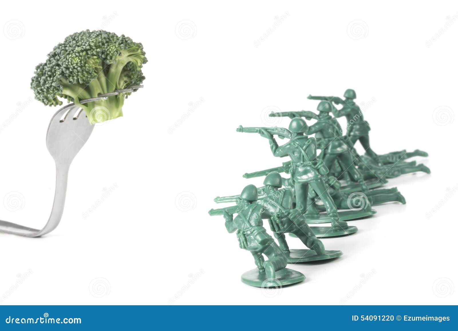 De legermensen vallen Vork aan