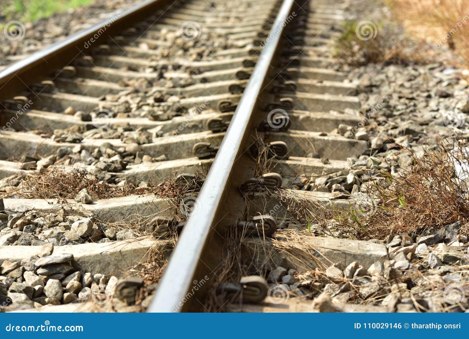 De lengte van het spoorwegspoor