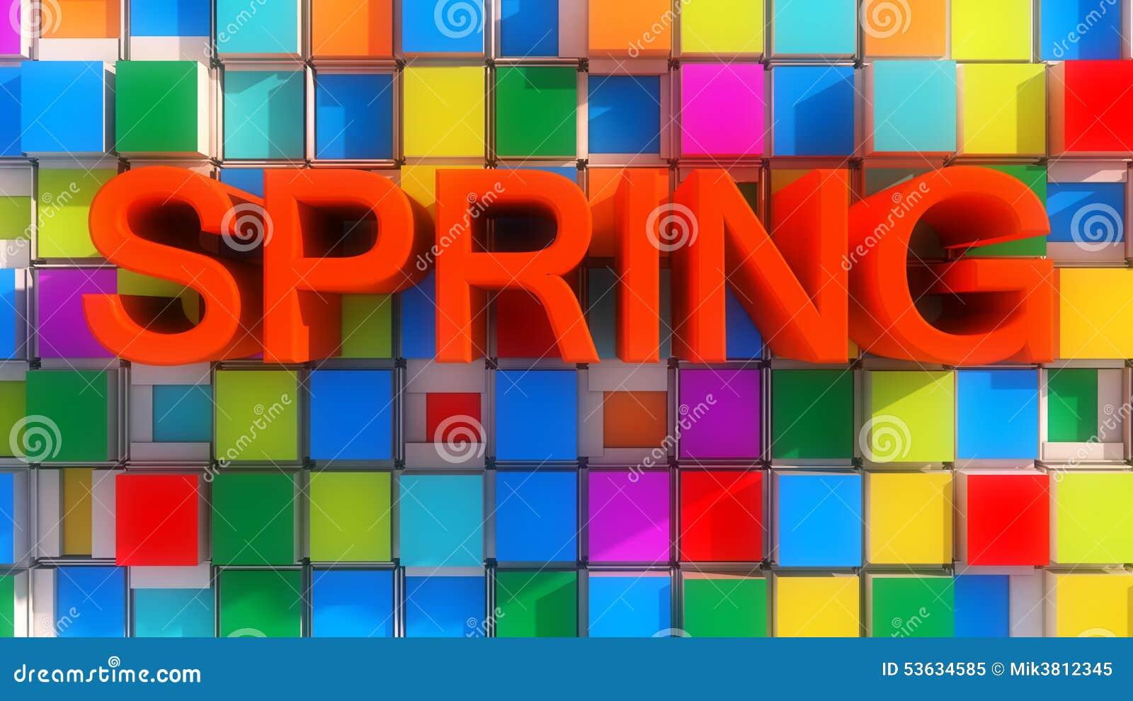 De lente abstracte kleuren