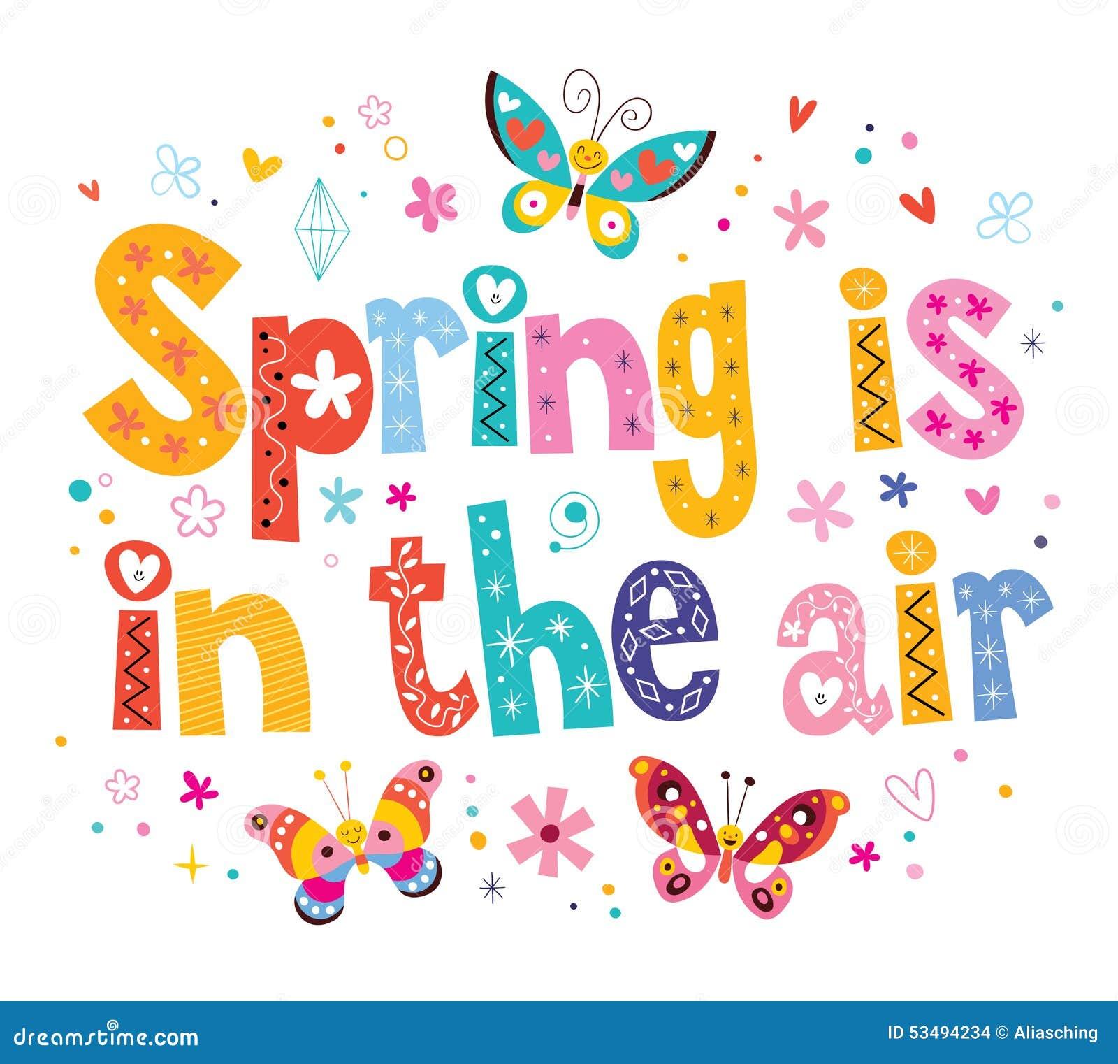 De lente is in de lucht