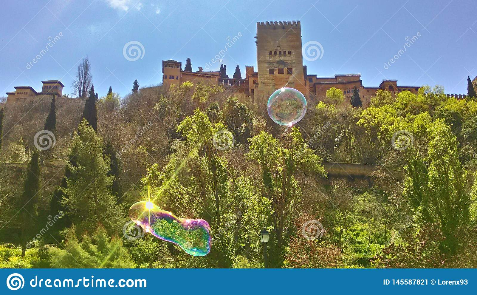 De lente in Granada, Alhambra