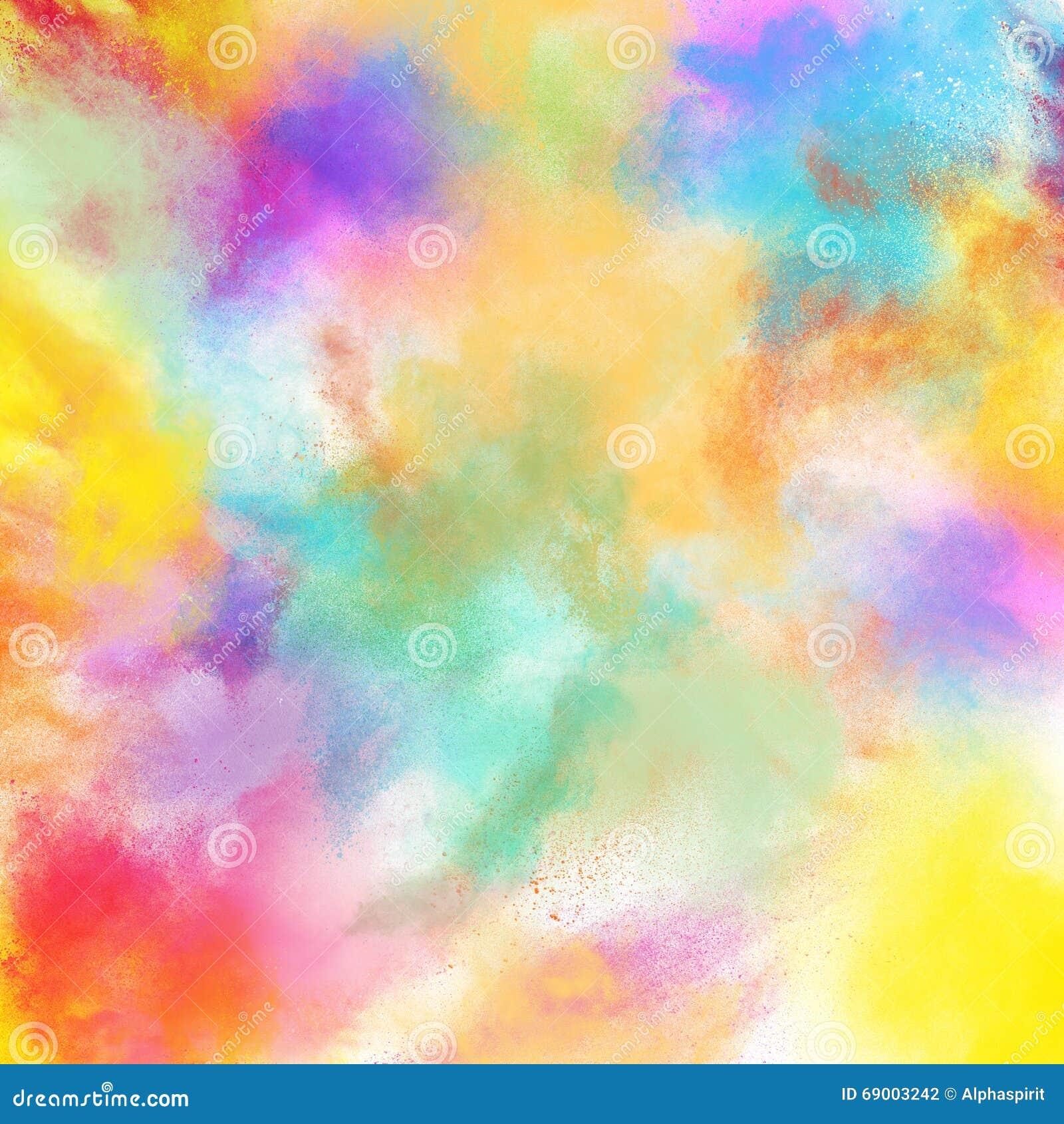De lente kleurrijke uitbarsting