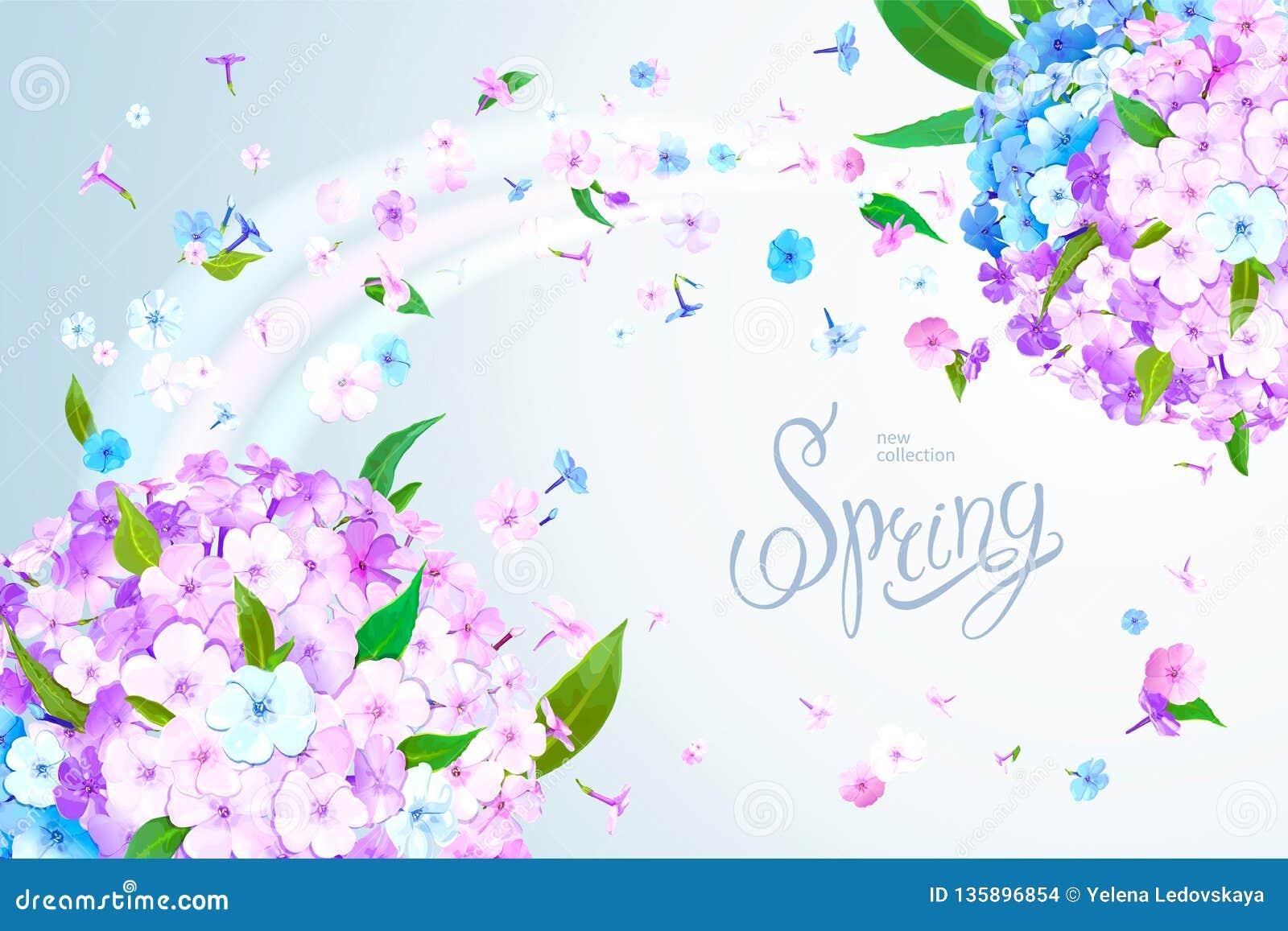 De lenteachtergrond met Flox