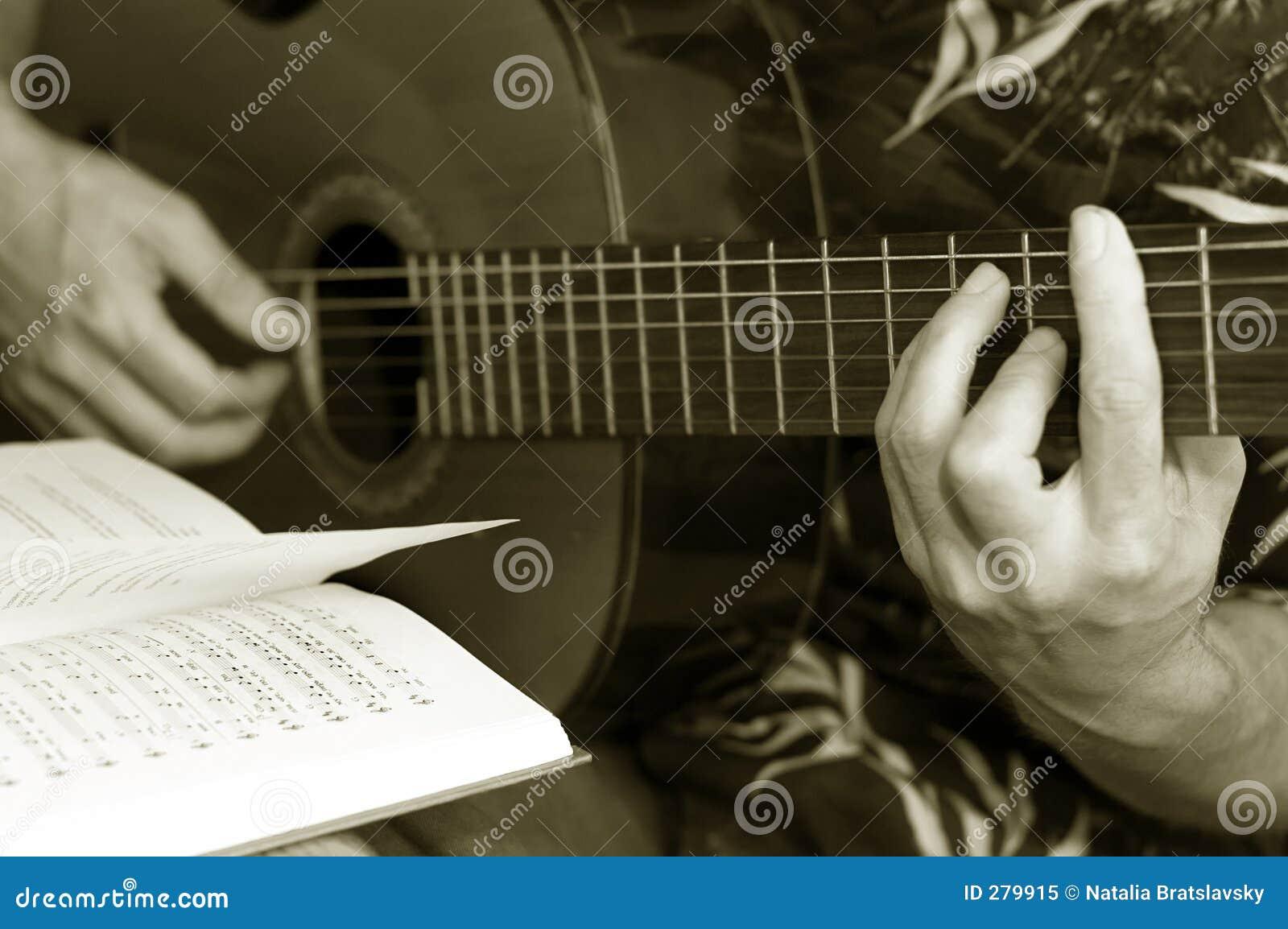 De lessen van de gitaar