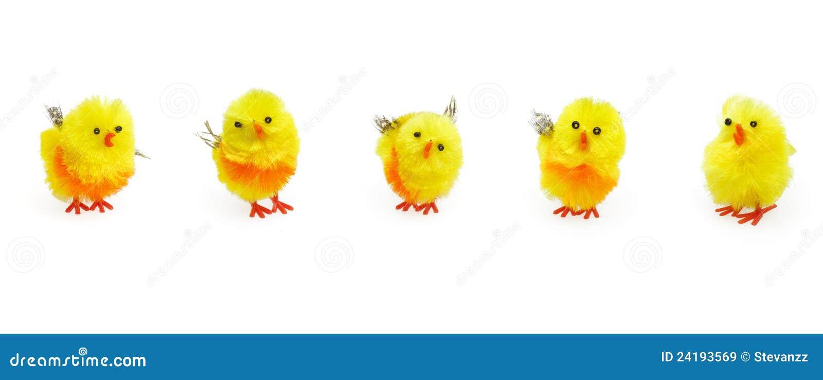 De leuke gele kuikens van pasen voor seizoengebonden decoratie royalty vrije stock afbeeldingen - Decoratie geel ...
