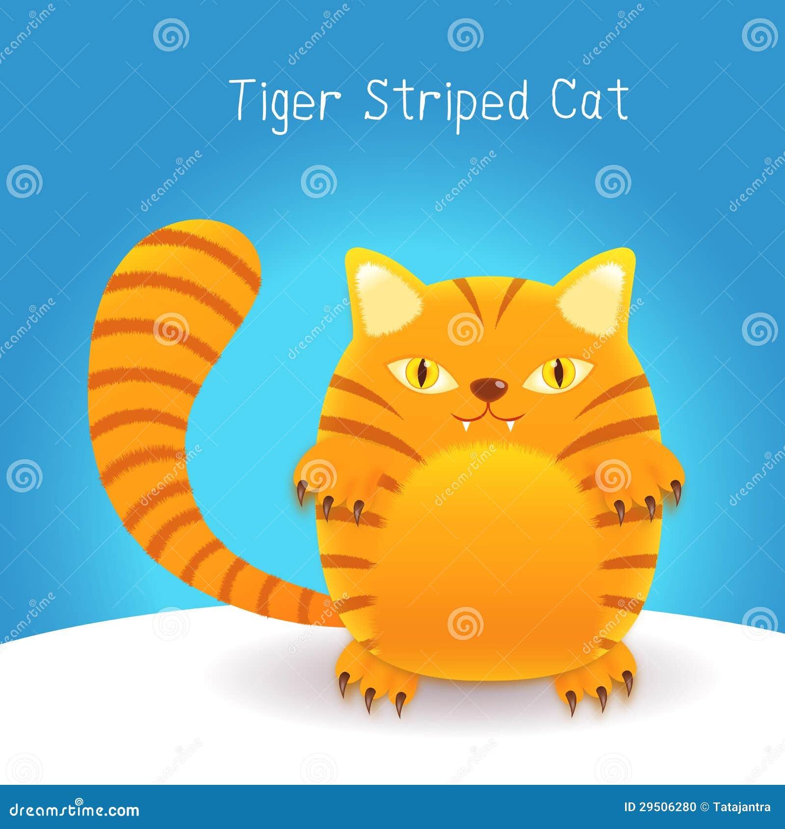 De leuke kat van tijgerstrepen