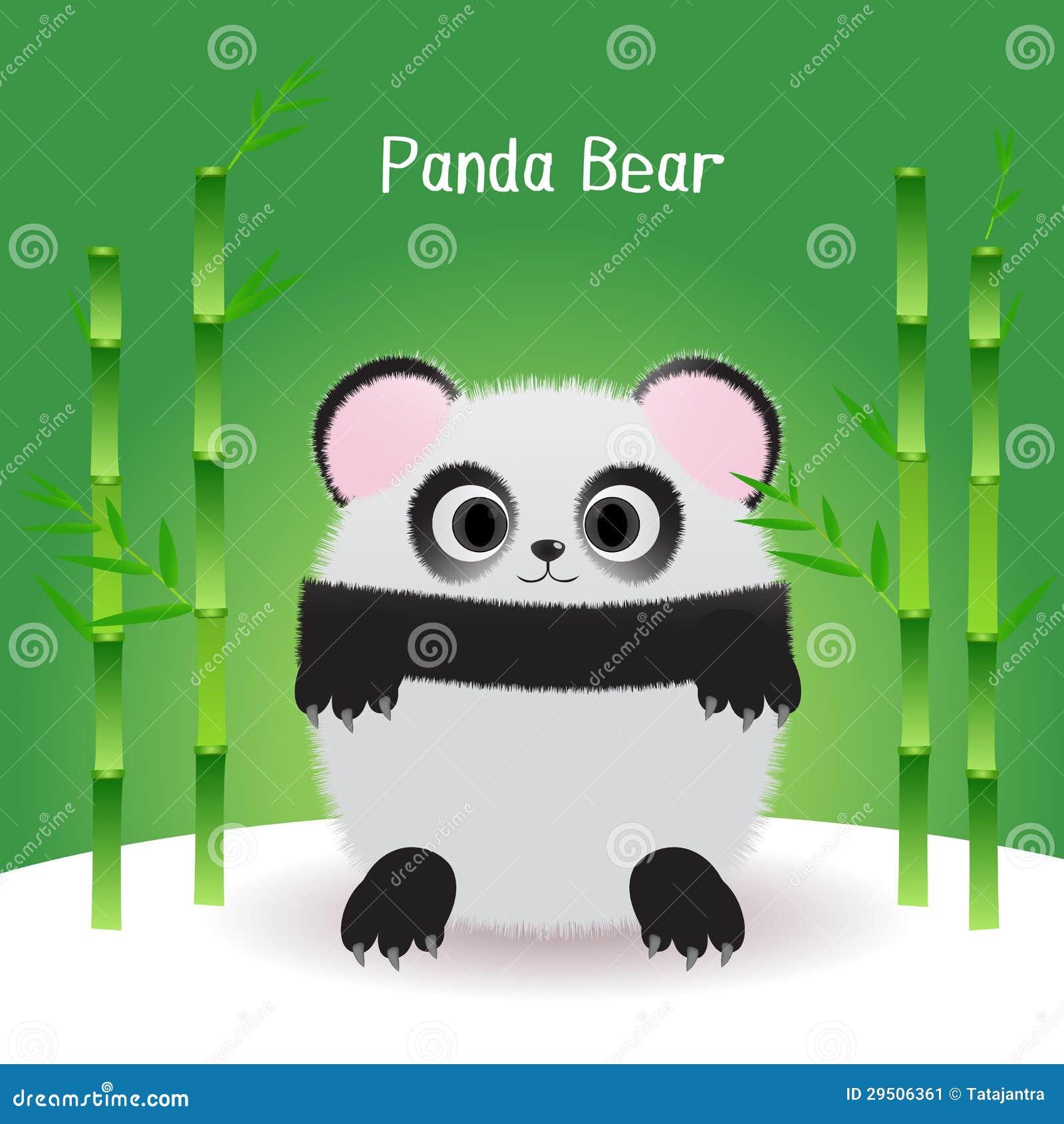 De leuke panda draagt vector