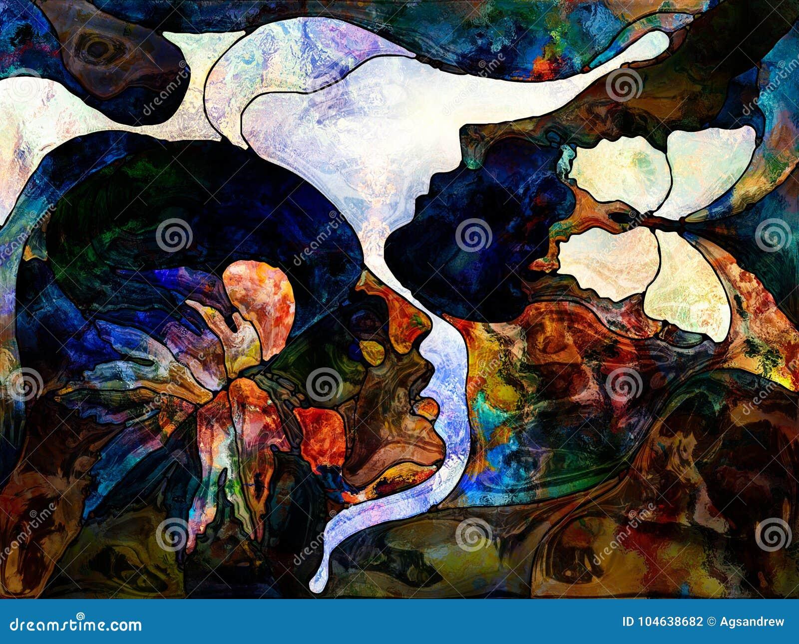 Download De Levende Kleurenafdeling stock illustratie. Illustratie bestaande uit liefde - 104638682