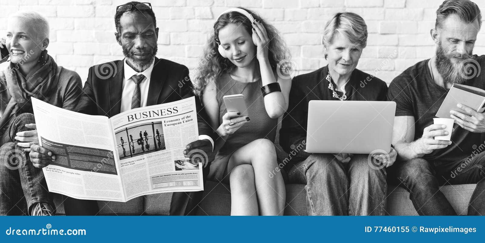 De Levensstijl Communicatie van de diversiteitsgroep Mensen Concept