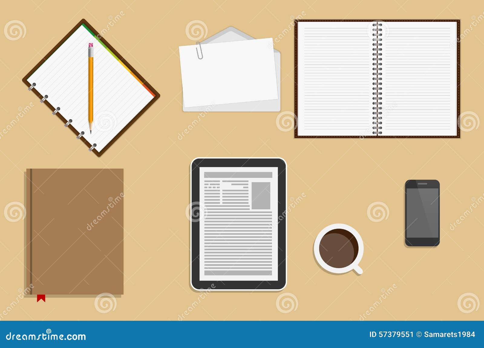 De Levering van het pictogrammenbureau Bedrijfswerkplaatsconcept