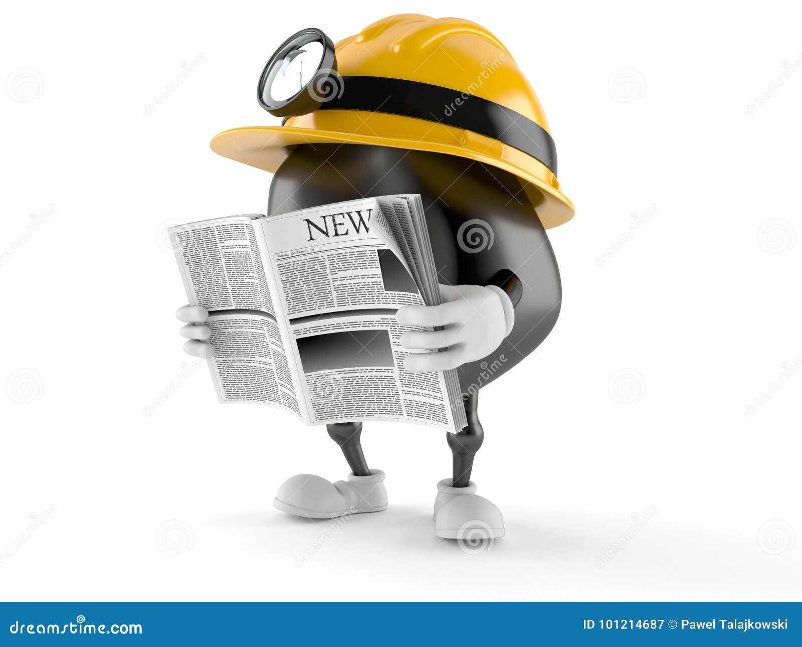 De lezingskrant van het mijnwerkerskarakter