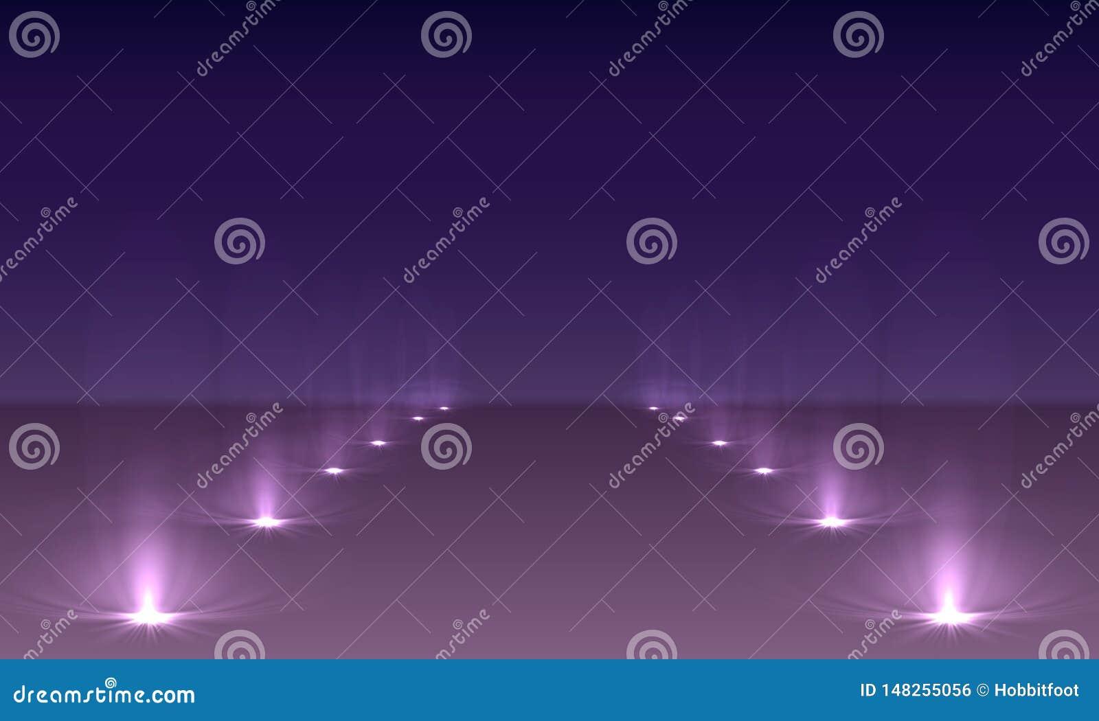 De lichteffecten van de schijnwerperssc?ne Vector van de stadium de lichte schijnwerper