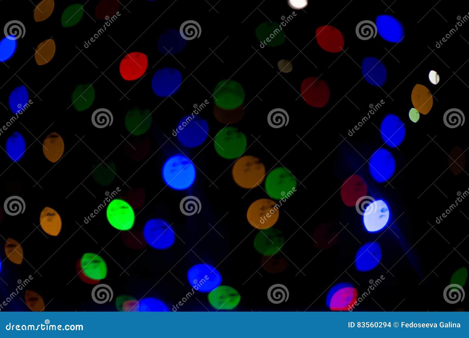 De lichten van Bokeh Mooie Kerstmisachtergrond en Nieuwjaar lichte Feestelijke samenvatting met