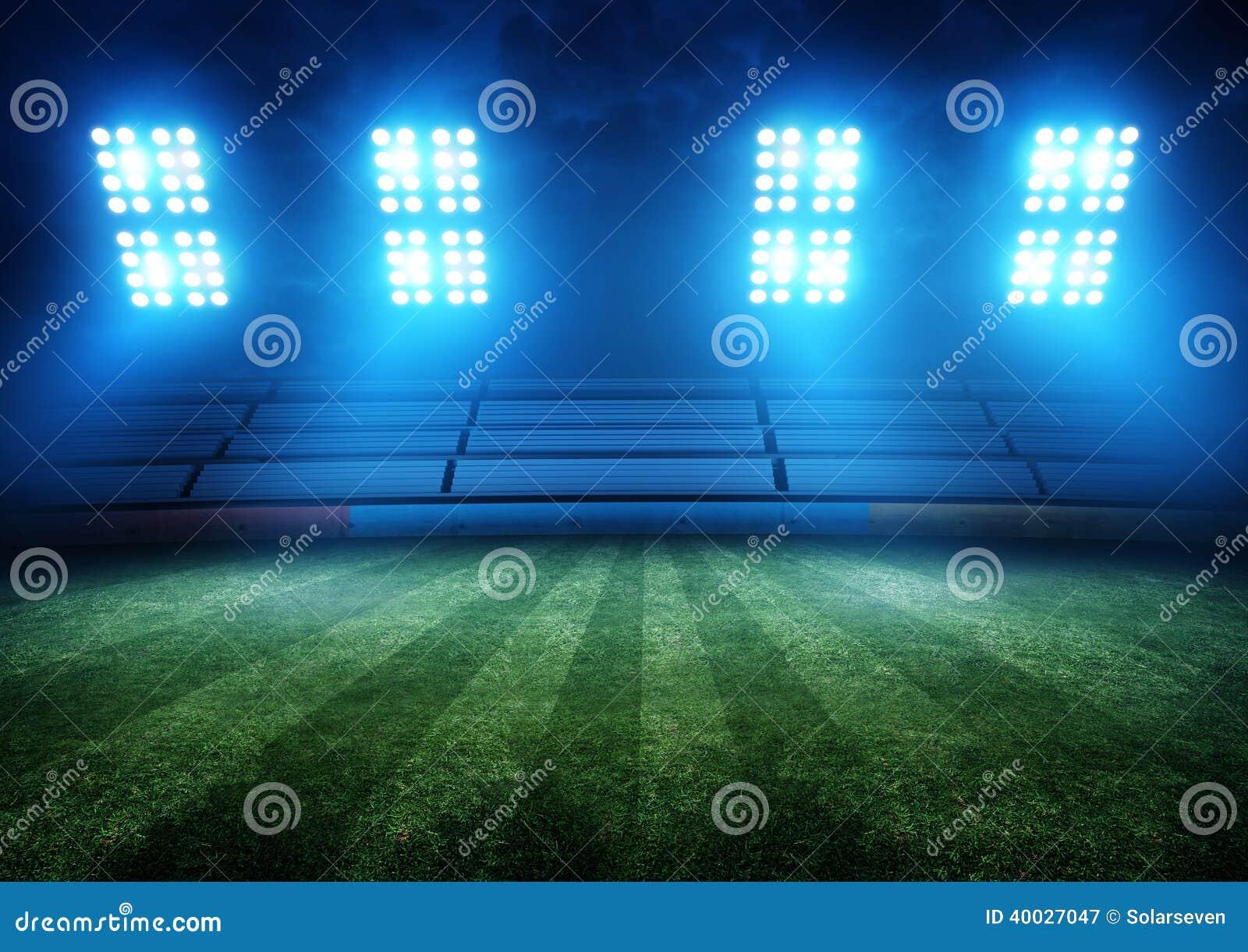De Lichten van het voetbalstadion