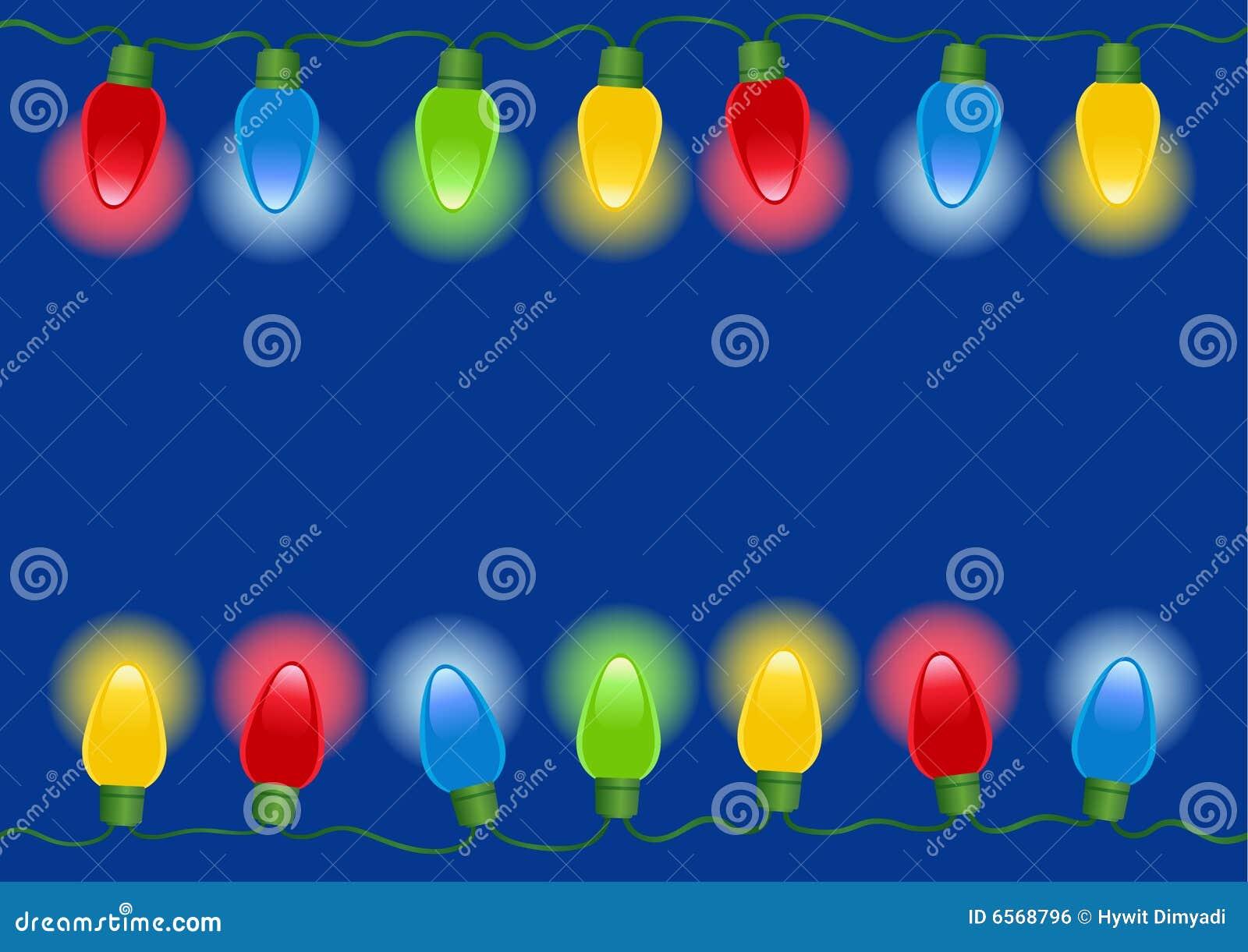 De lichten van Kerstmis in Vector