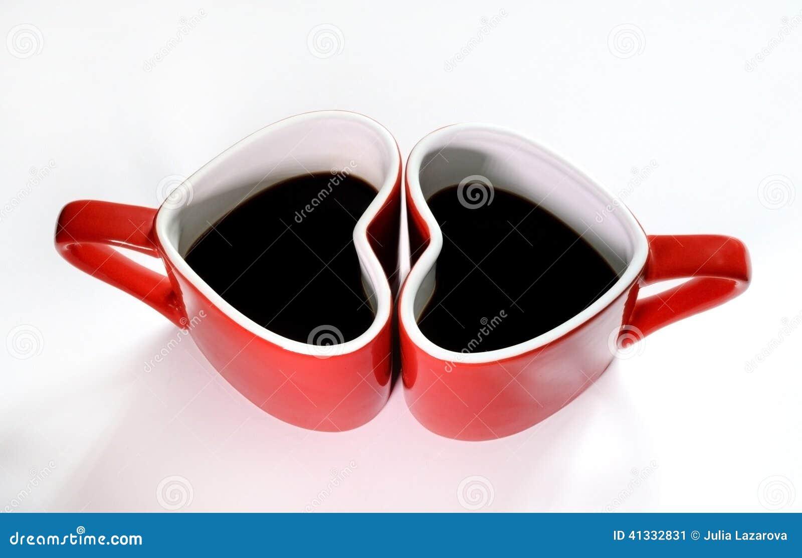 De liefde van de koffiekop