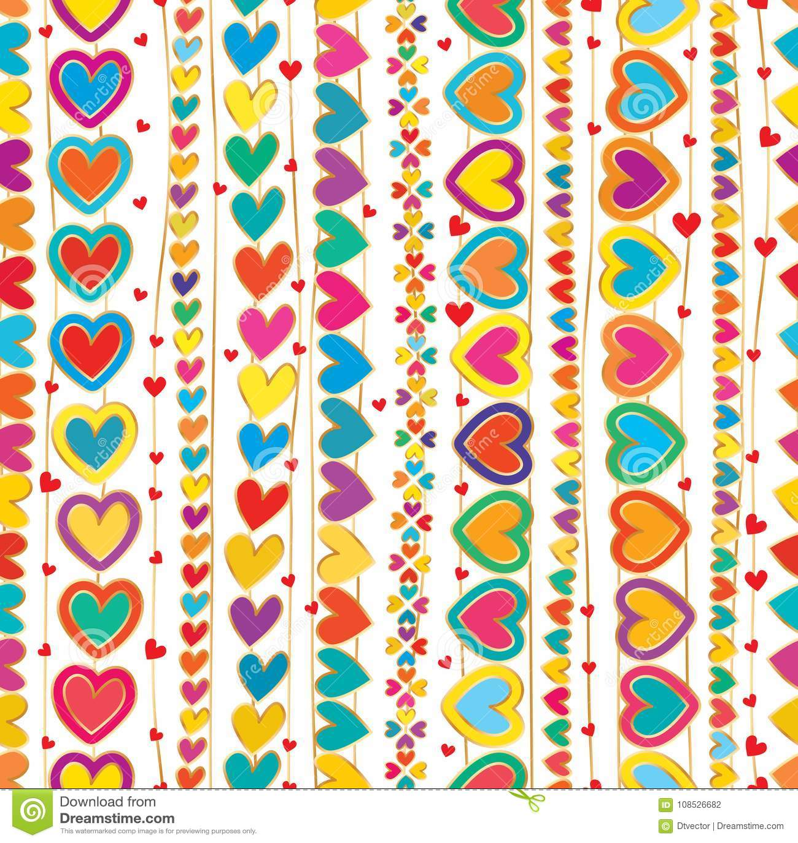De liefdehand trekt verticaal lijn naadloos patroon