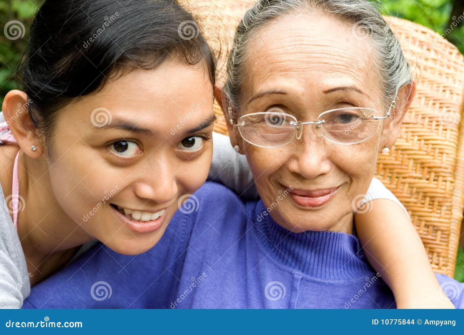 De liefdemoeder van de dochter