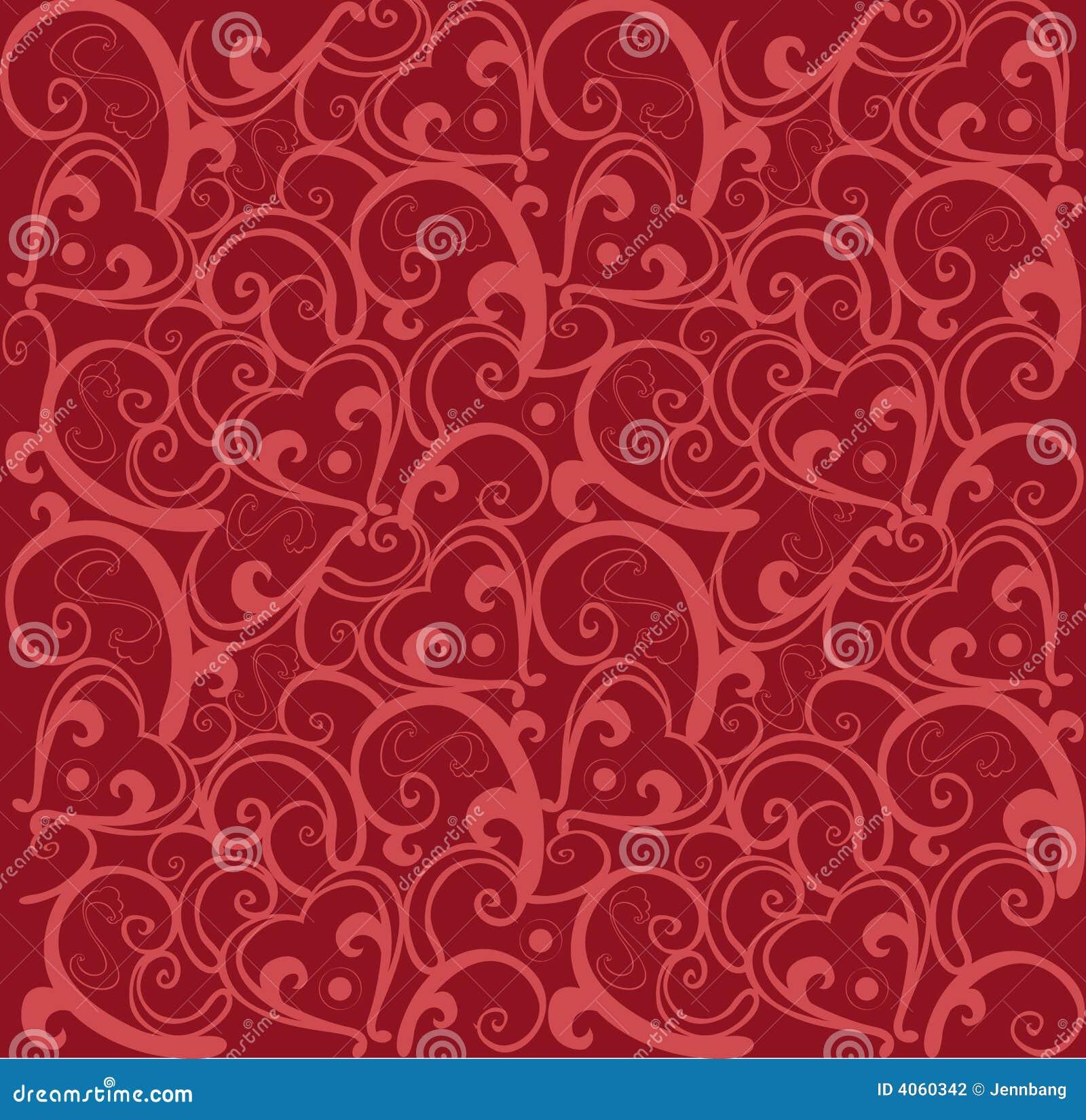 De liefdepatroon van de valentijnskaart