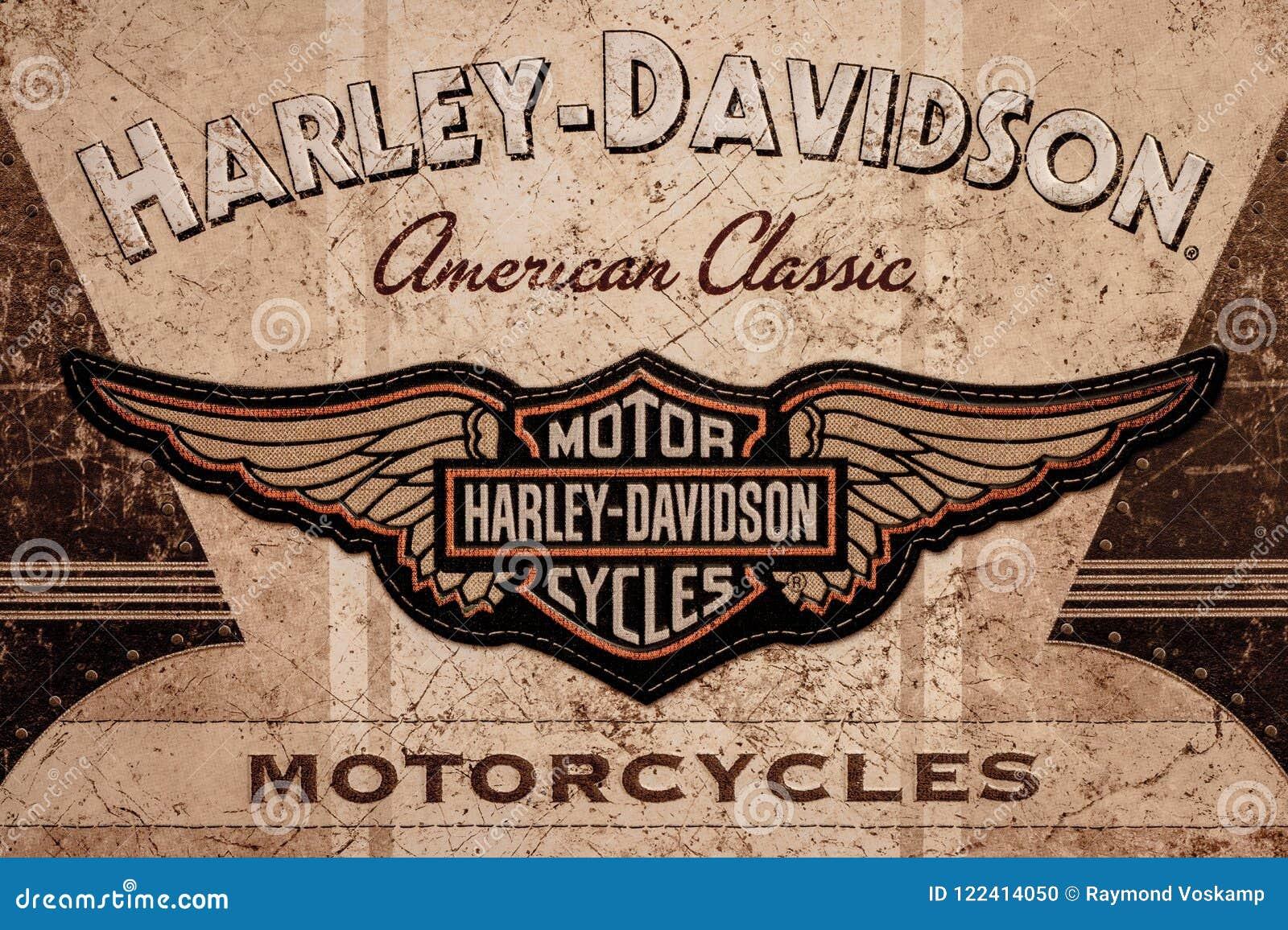 DE LIER, PAESI BASSI - 1° NOVEMBRE 2017: Harley Davidson American