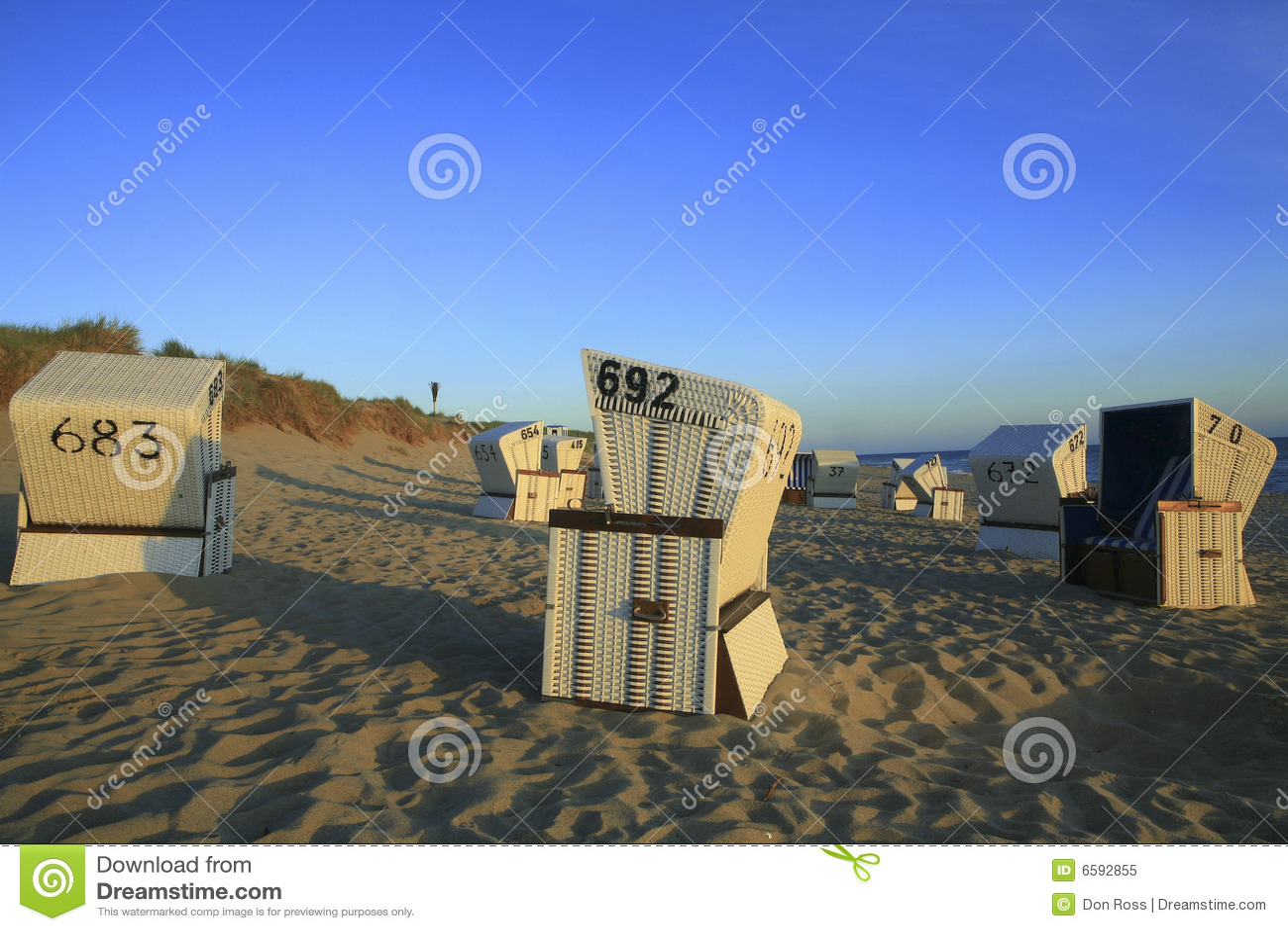 De ligstoelen van Sylt