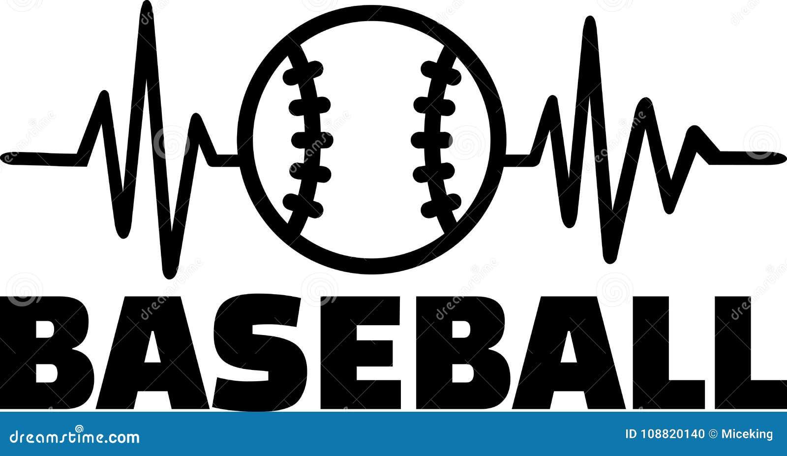 De lijn van de honkbalhartslag