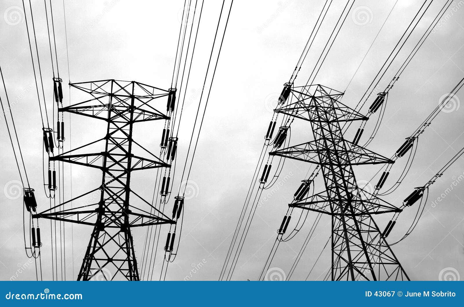 Download De Lijnen van de macht stock afbeelding. Afbeelding bestaande uit proton - 43067