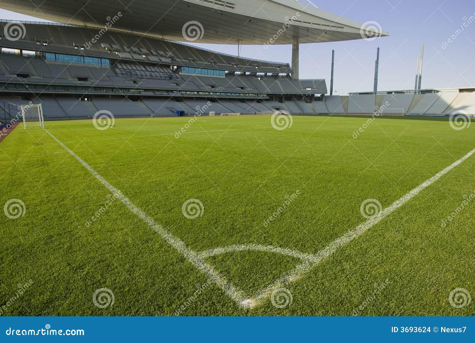 De Lijnen van het stadion en van het Voetbal