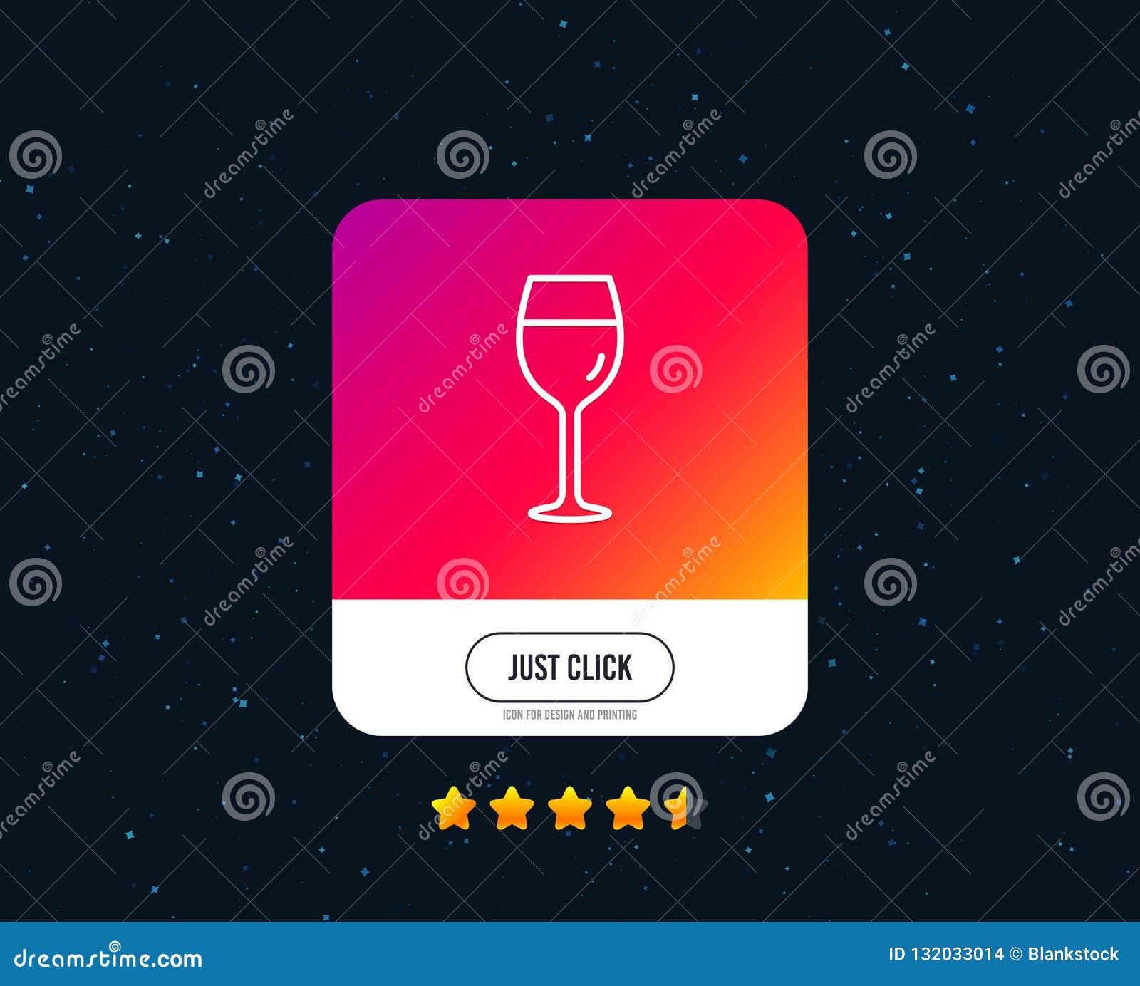 De lijnpictogram van het wijnglas Het glasteken van Bordeaux Vector
