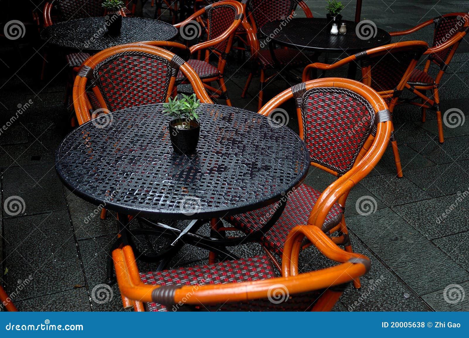De lijsten en de stoelen van Bistro