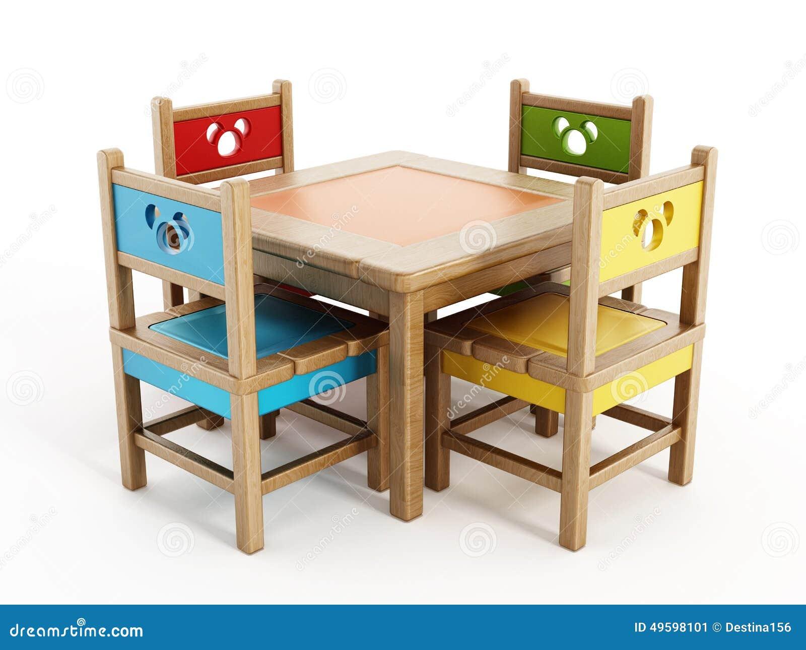 De lijsten en de stoelen van kinderen stock illustratie