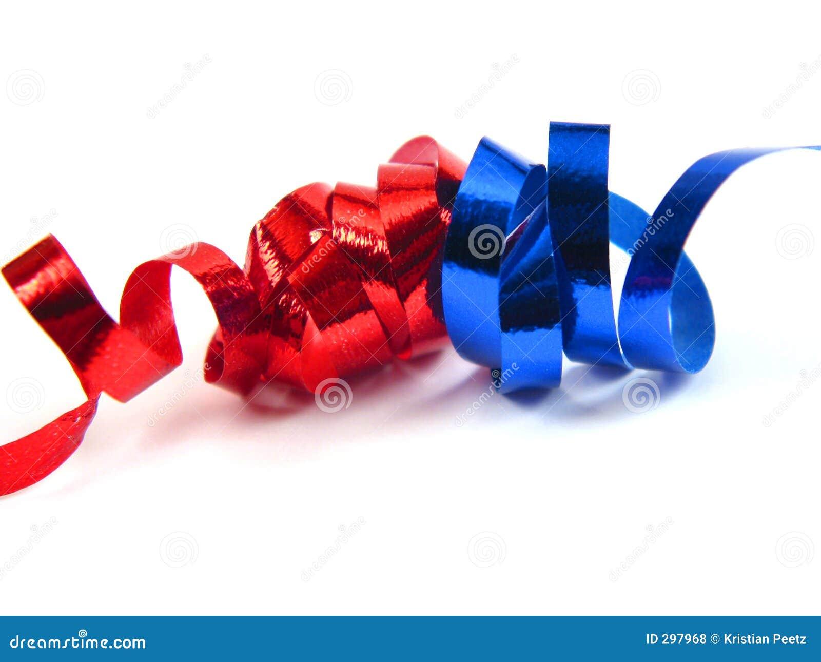 De linten van Red&blue kruising
