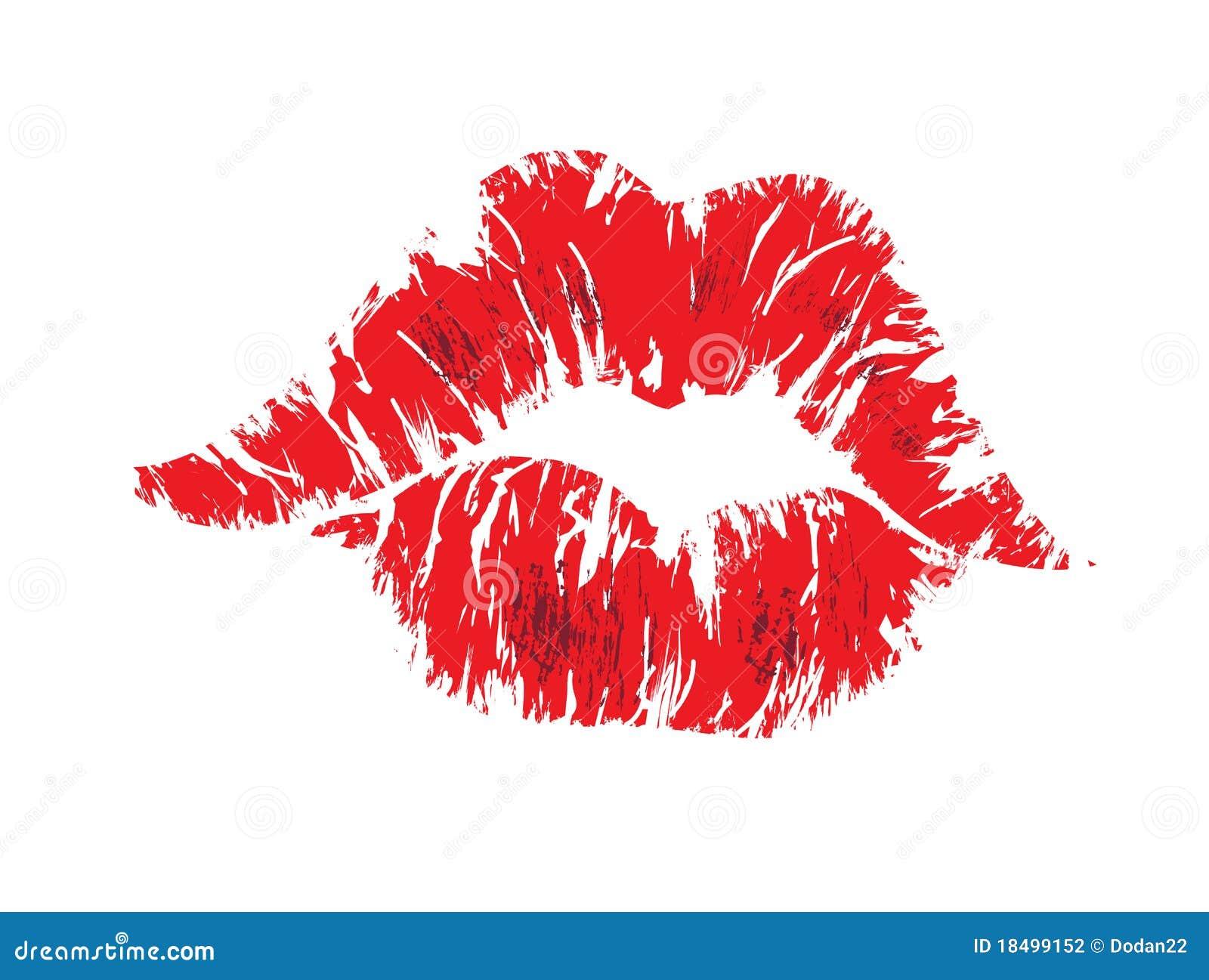 De lippen van de kus