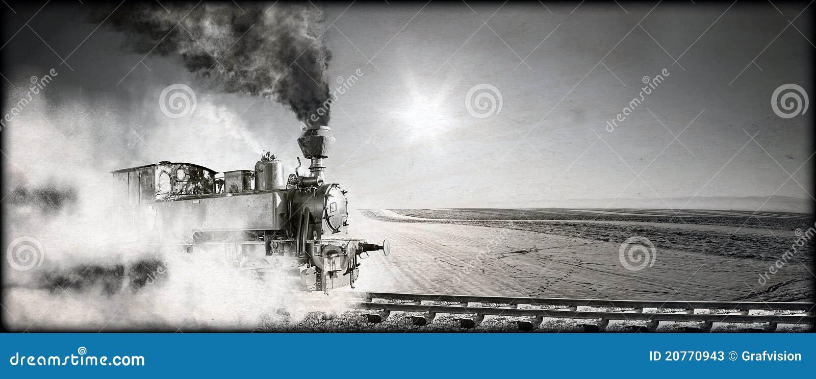De locomotief van de stoom