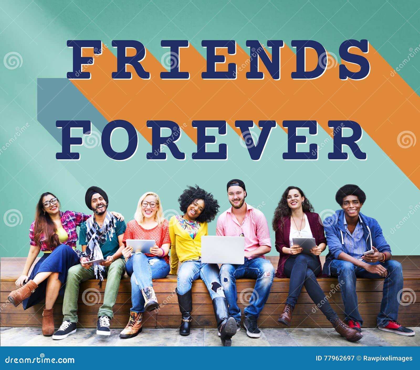 De los amigos concepto de la unidad de la sociedad de la comunidad para siempre