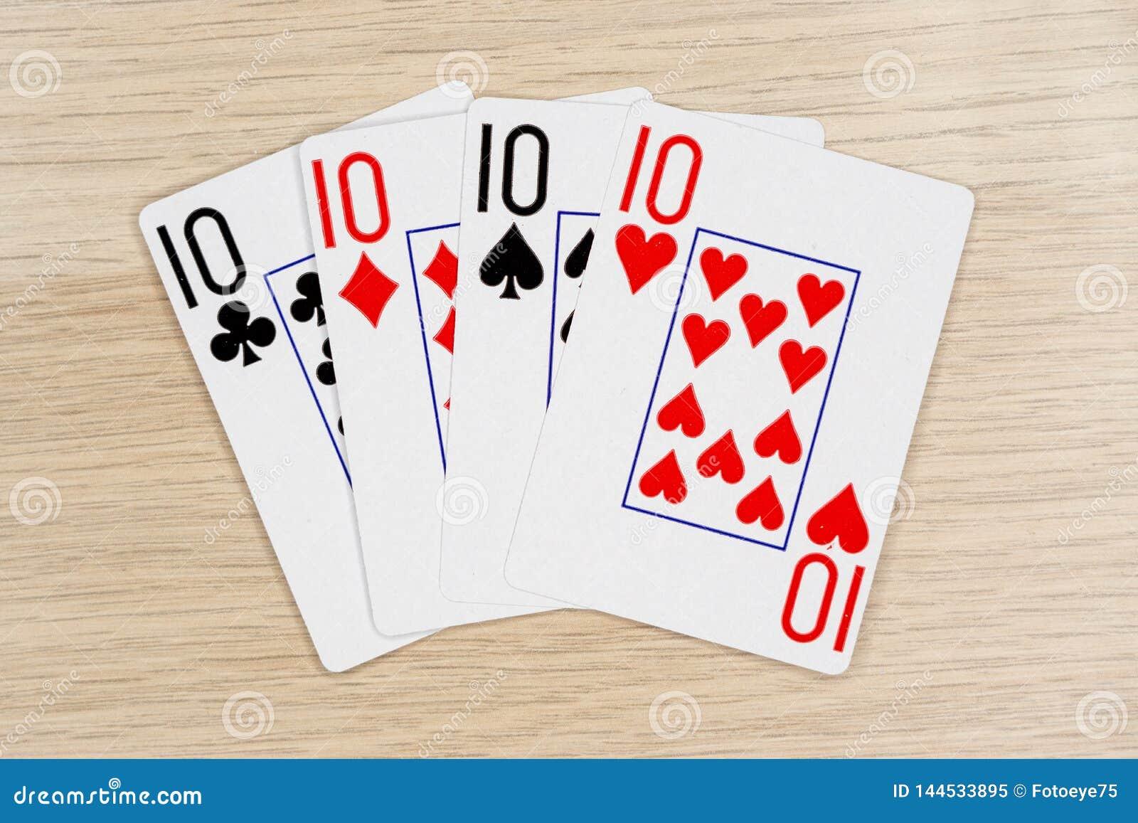 4 de los diez buenos 10 - casino que juega tarjetas del póker
