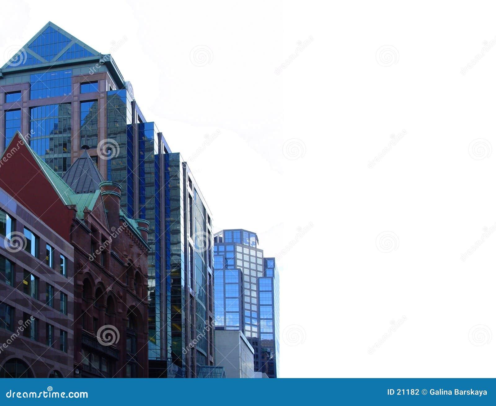 De los edificios centro de la ciudad adentro de Toronto