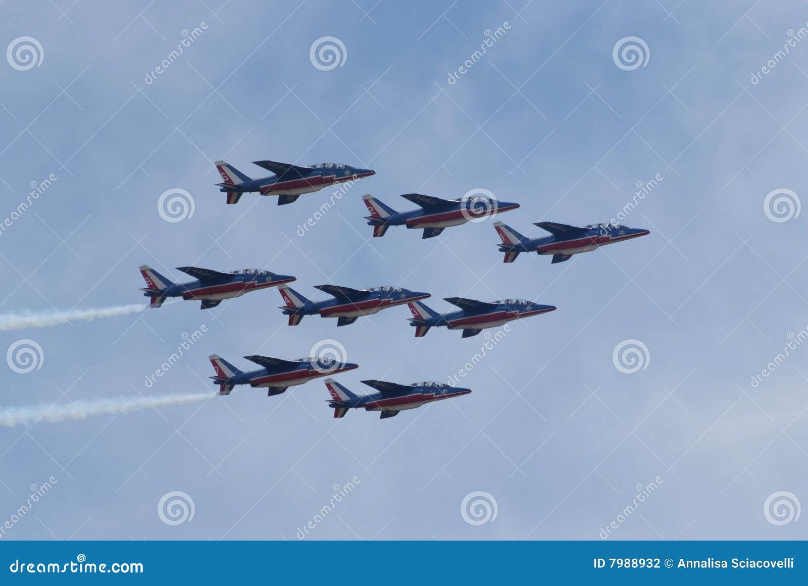 De lucht toont - Team 02 van Frankrijk