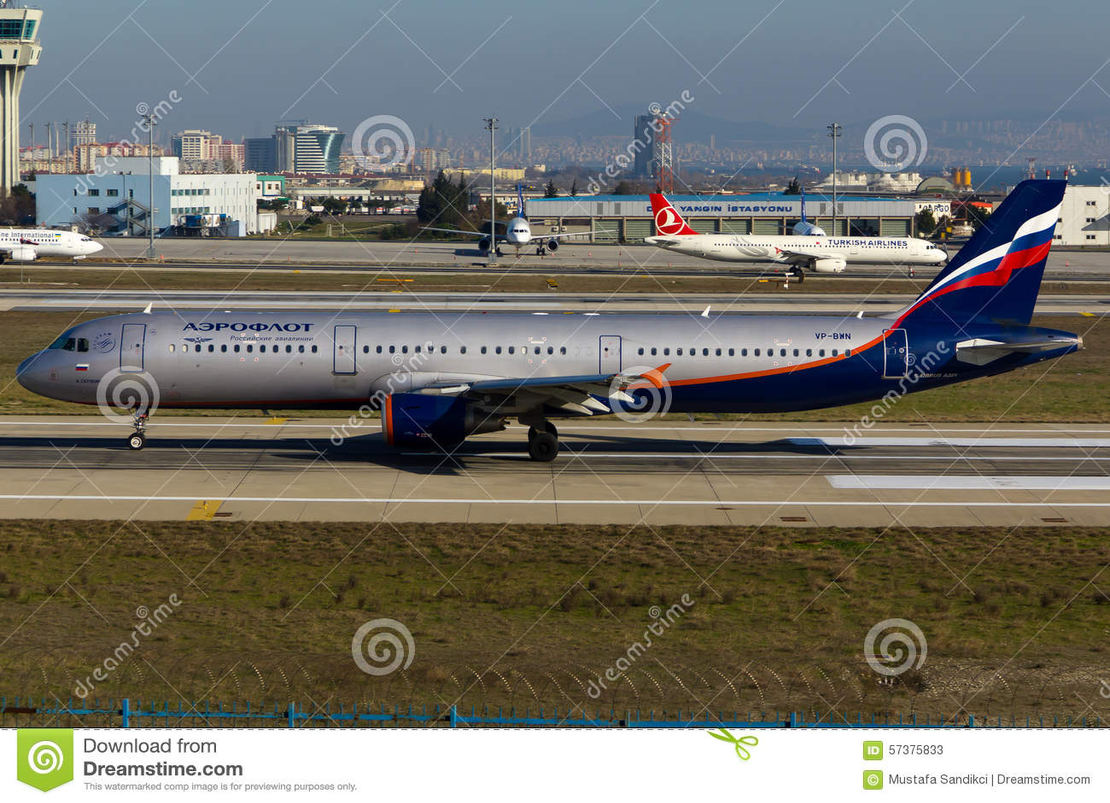 De Luchtbus van Aeroflot A321