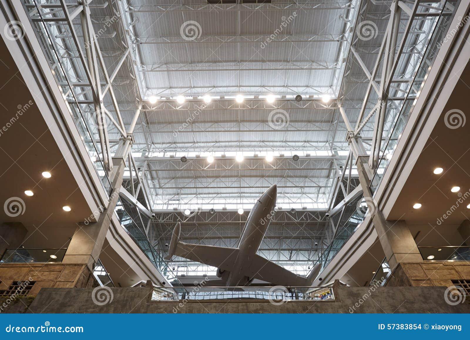 De luchthaventerminal van Denver