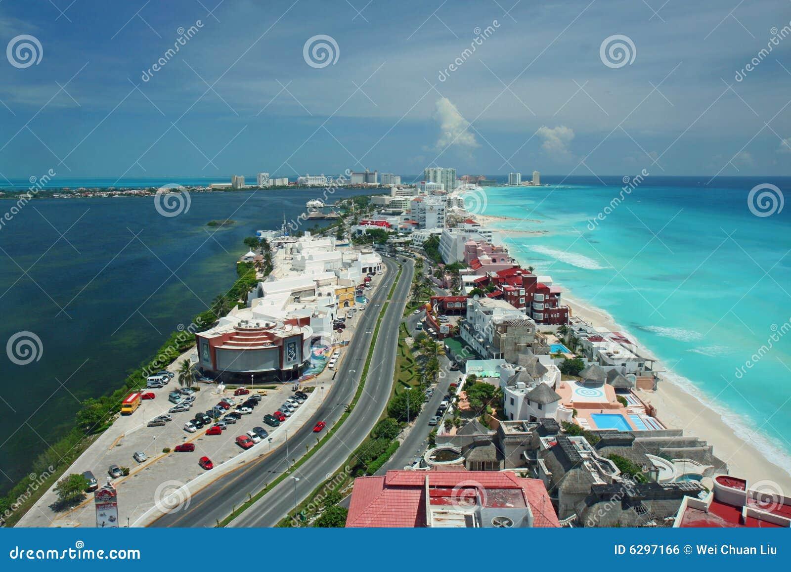 De luchtmening van Cancun