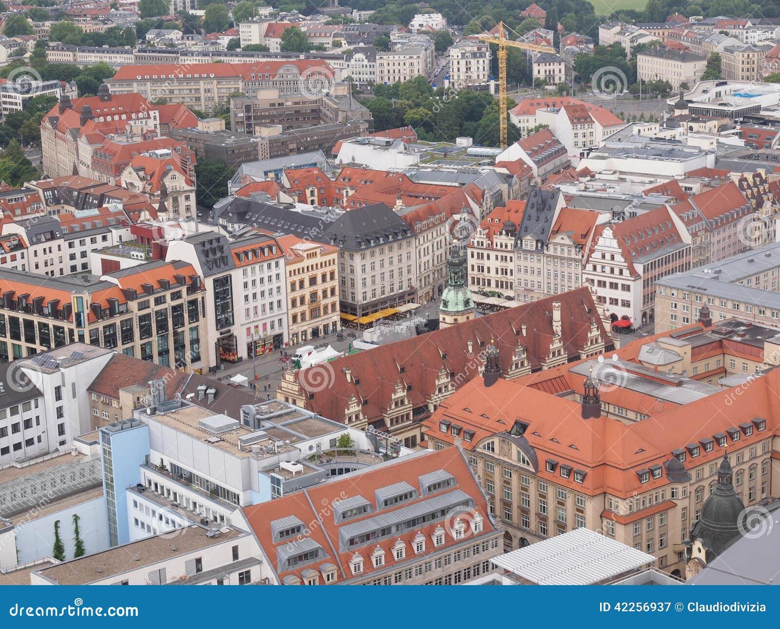 De luchtmening van Leipzig