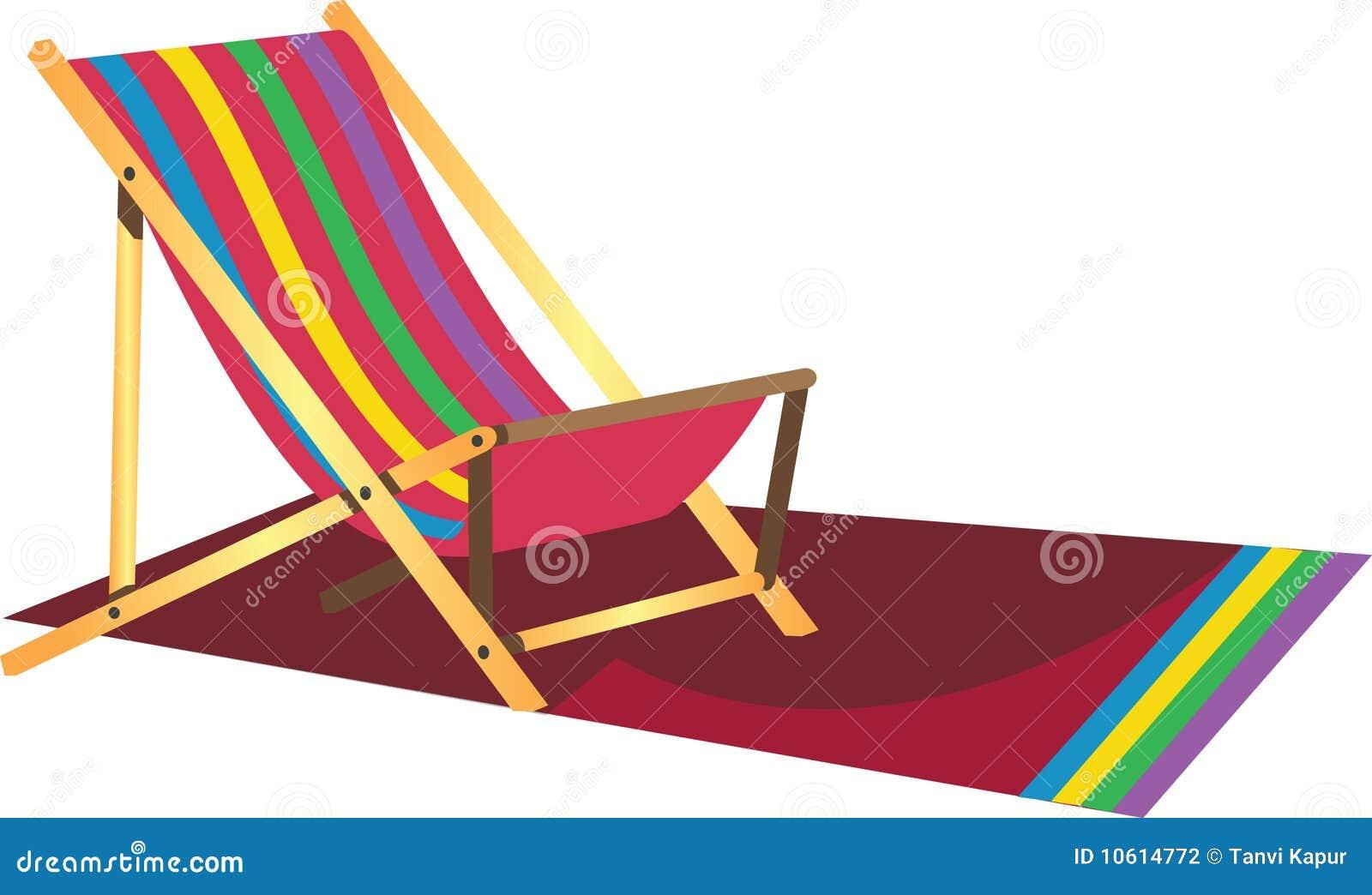De luie stoel van het strand stock fotografie afbeelding for Luie stoel