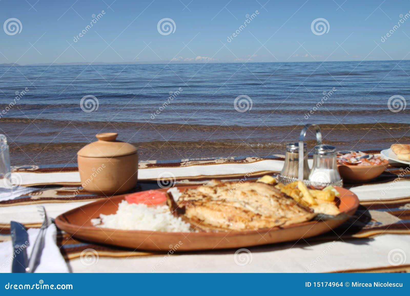 De lunch van de forel