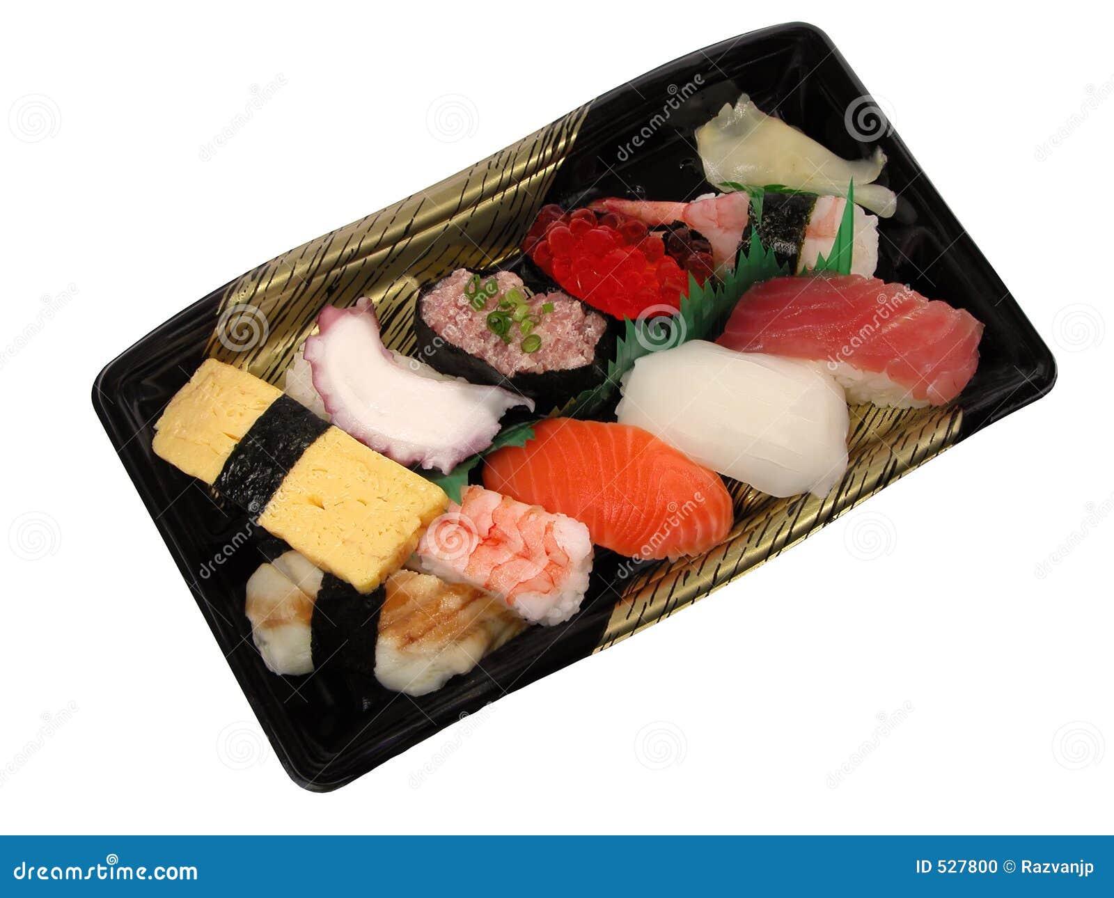 De lunchdoos van sushi