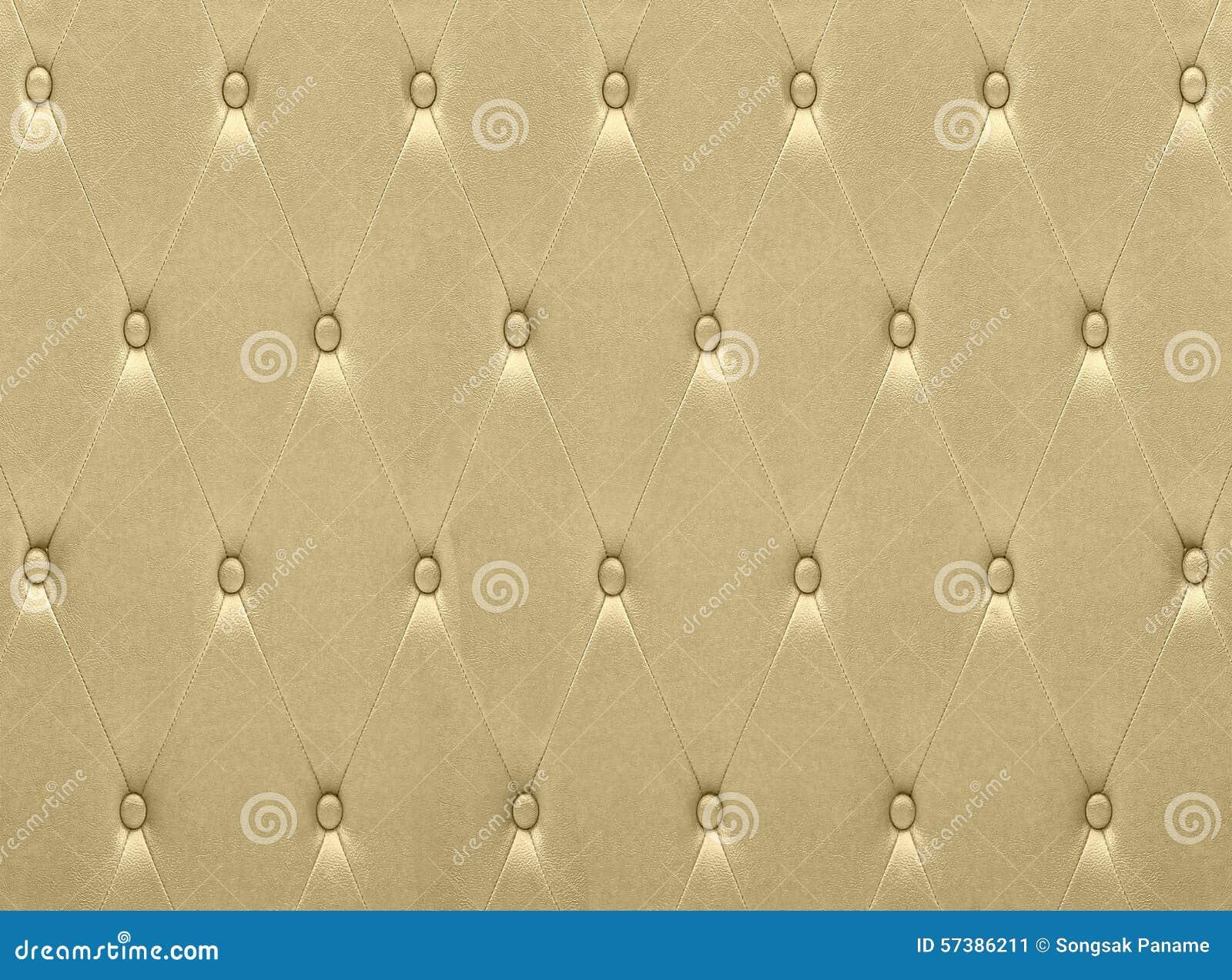 De luxueuze gouden stoffering van de leerzetel