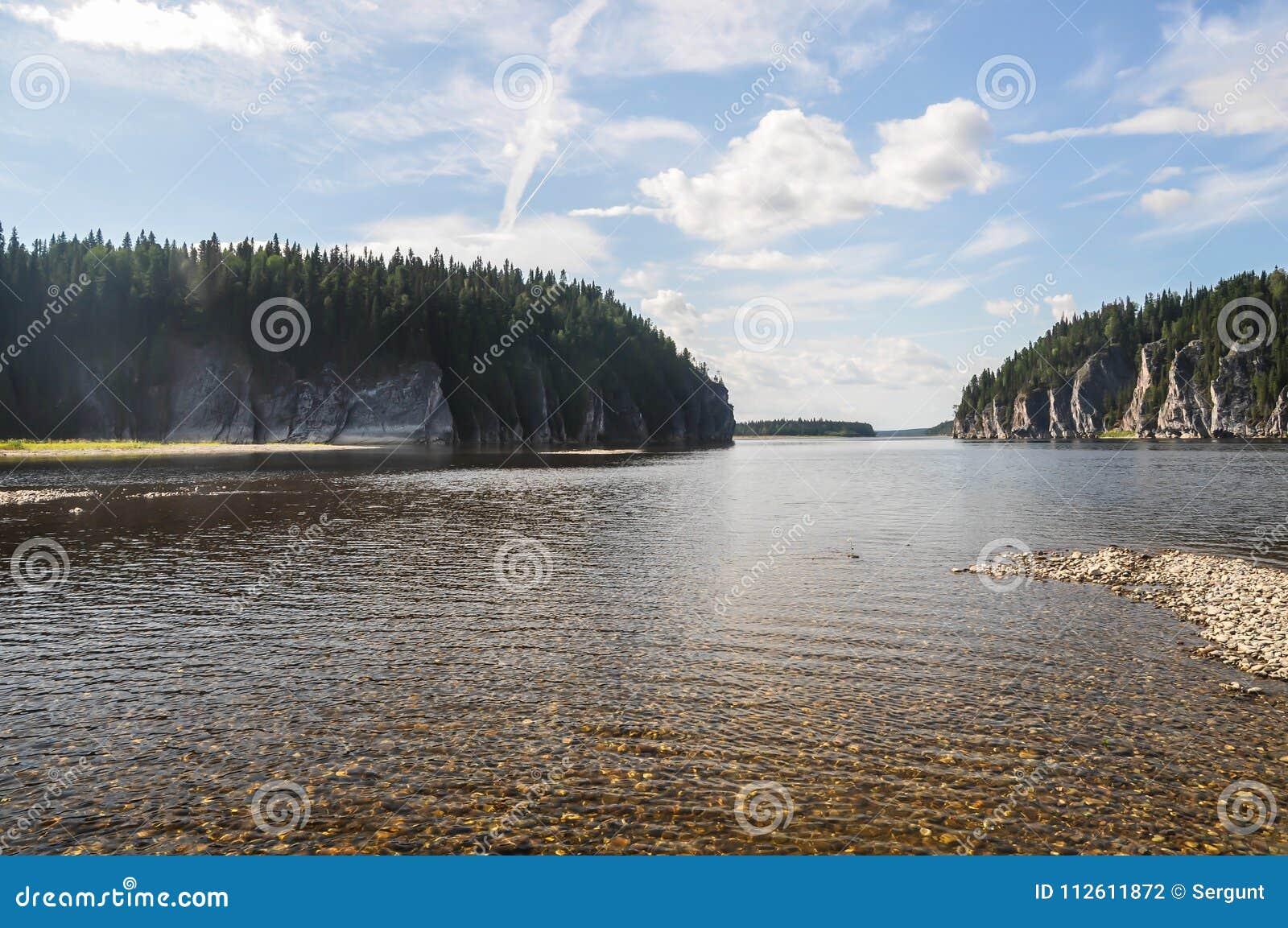 De maagdelijke bossen van de Komi-Republiek,