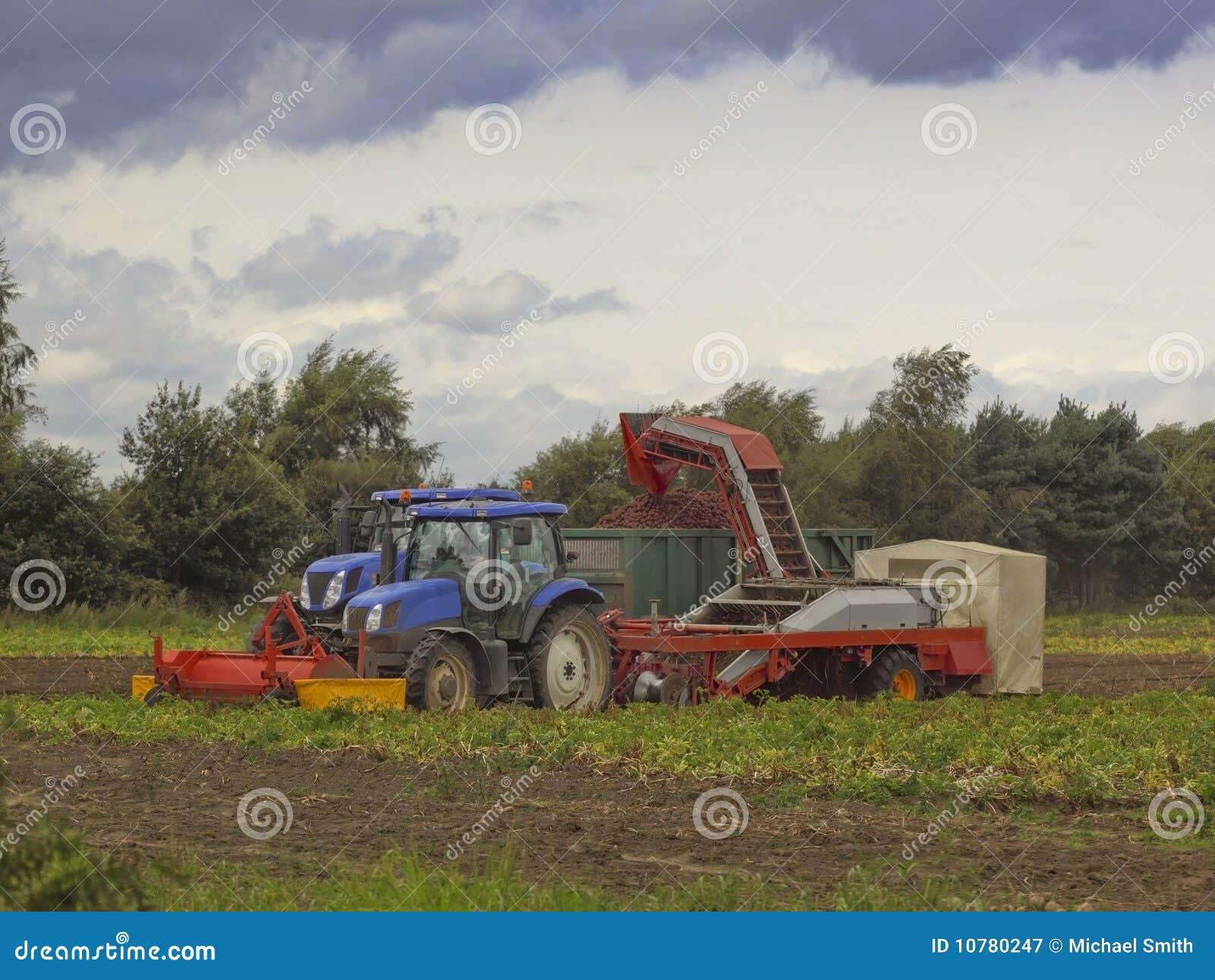 De maaimachine van de aardappel
