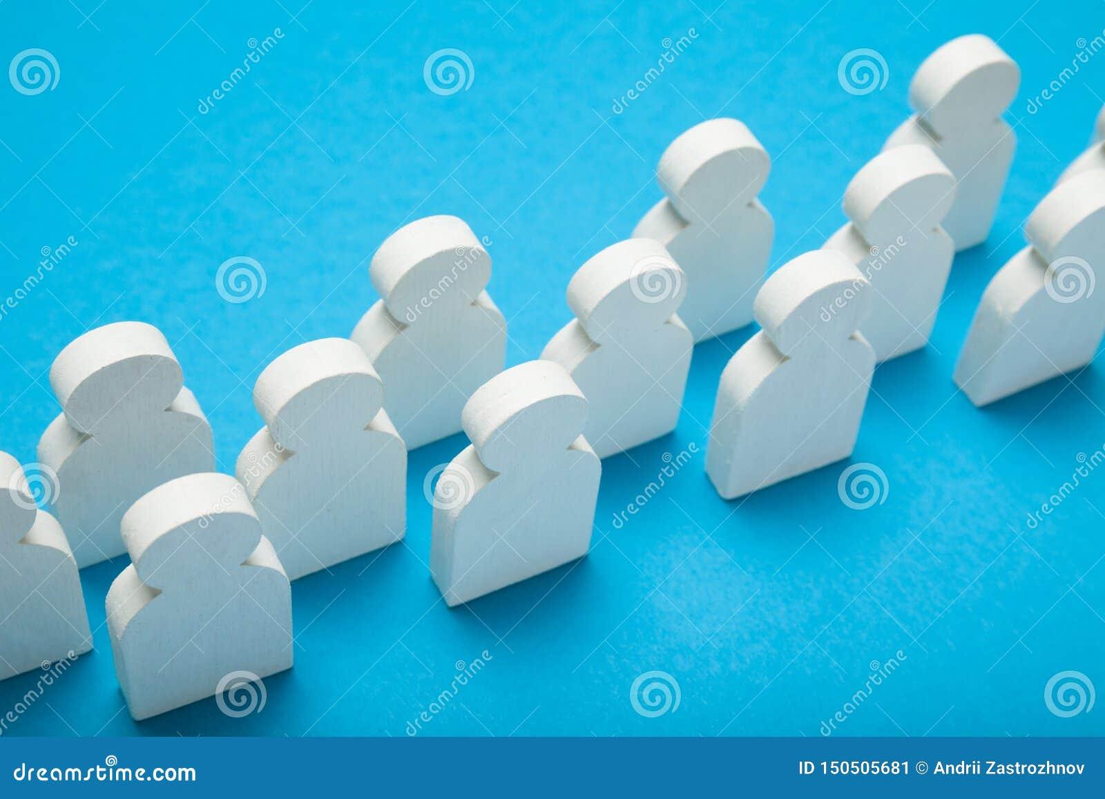 De maatschappij communautair concept, commercieel team, groep