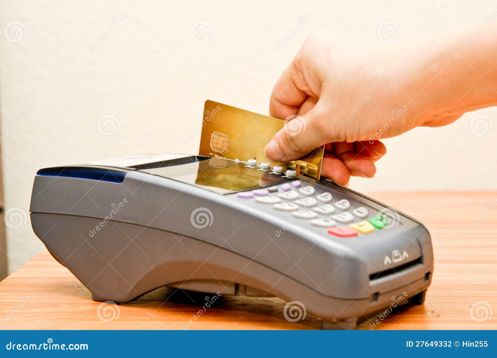De machine van de betaling